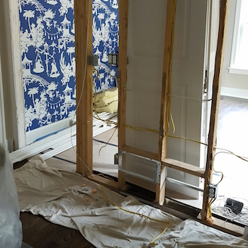 Rewiring of existing dining room